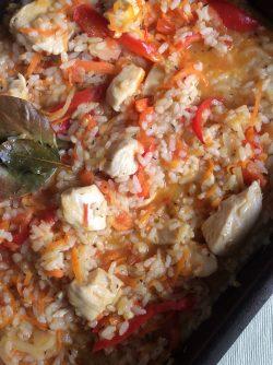 Рис с курицей: Часто готовлю куриное мясо и всегда возникает вопрос, что же сделать на гарнир? И лучше всего куриное...