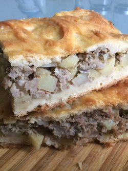 Пирог с картофелем и мясом: Готовим пирог с картофелем и мясом, его еще называют Татарским. В него лучше брать говядину или баранину...