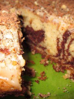 Пирог `Зебра`: В преддверии новогодних праздников предлагаю очень простой пирожок из серии `гости на пороге`, когда...