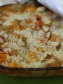 Рис с тыквой: Сегодня делимся очень вкусным рецептом второго блюда. Отличное сочетание тыквы, яблок и риса. Рецепт...
